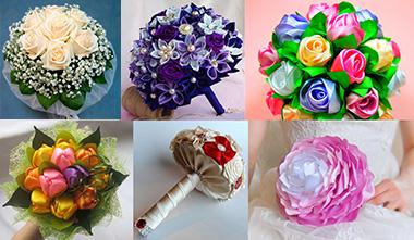 Разновидности самодельных свадебных букетов