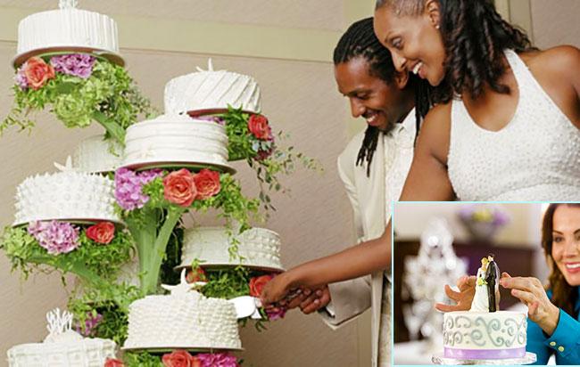 Традиция разрезания торта на американской свадьбы