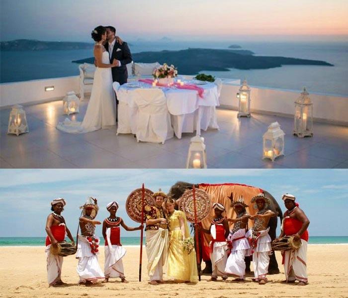 Экзотическая свадьба вдвоем
