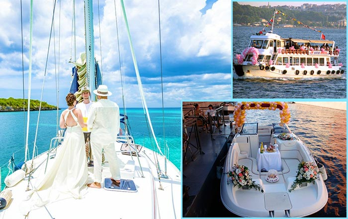 Свадьбы на яхте, теплоходе и катере