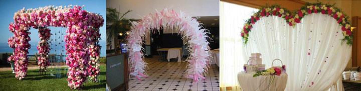 Формы свадебной арки
