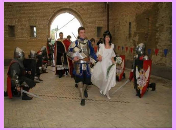 Рыцарская свадьба в замке