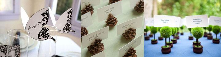 Рассадочные карточки на шишке, деревце, бабочке