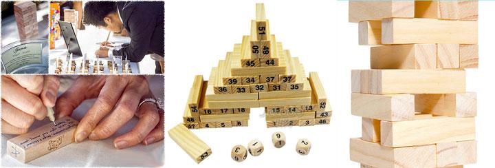 пожелания на деревянных кубиках