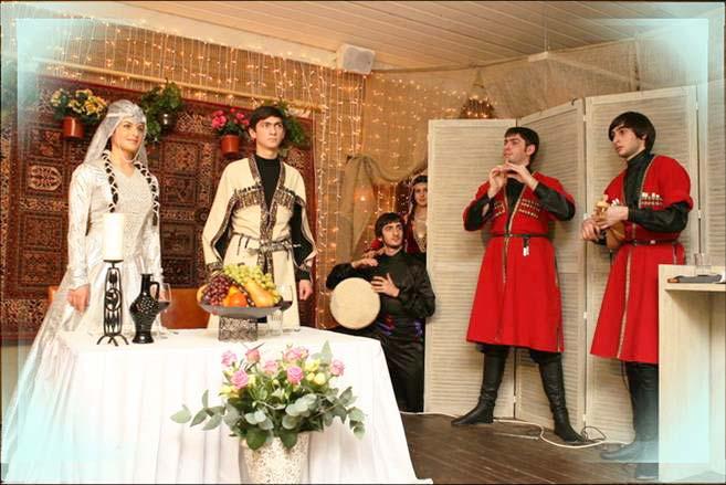 Азербайджанские жених и невеста и сватовство