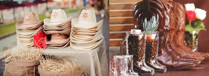 Ковбойские сапоги и шляпы