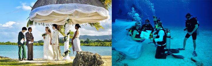 Мальдивы, молодожены и свадьба на пляже и под водой