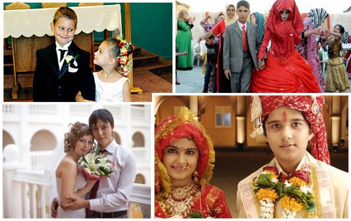 Ранние браки в разных странах