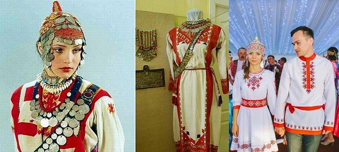 Свадебные наряды чувашских жениха и невесты