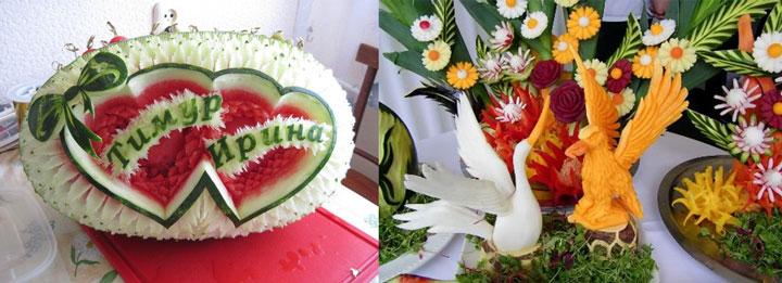 Карвинг десерты на свадьбу