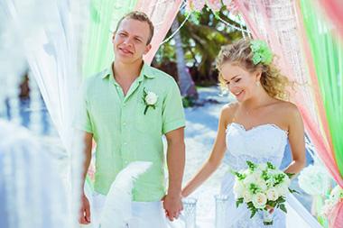 свадьба в мятных цветах