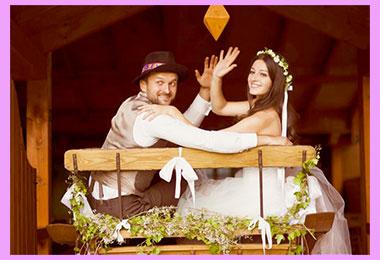 Жених и невеста в стиле вестерн