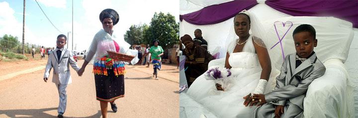 Свадьба мальчика и пожилой женщины в Африке