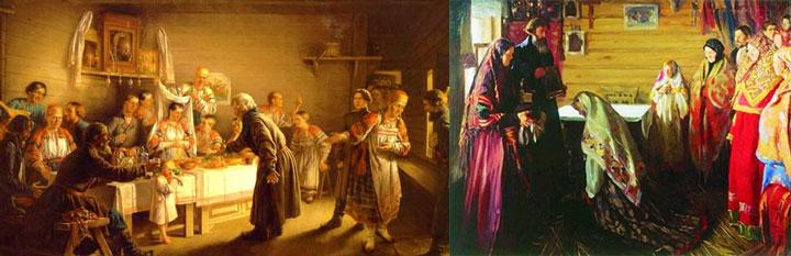 Старорускиое сватовство и смотрины невесты