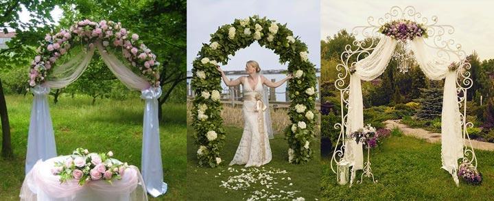 Варианты свадебных арок и невеста