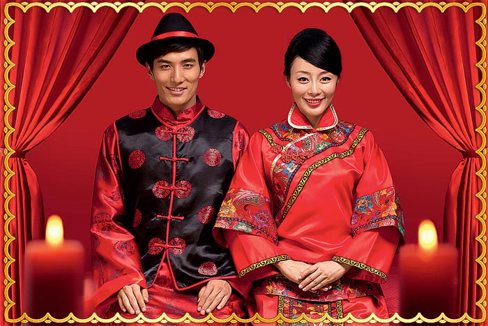 Китайские молодожены