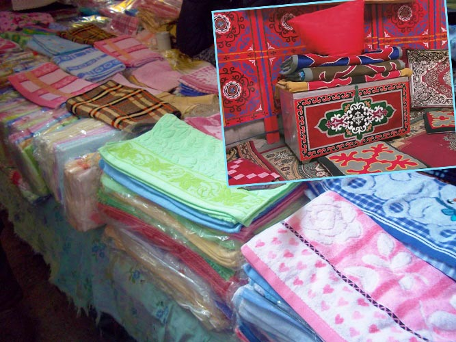 Текстиль и сундук для приданого