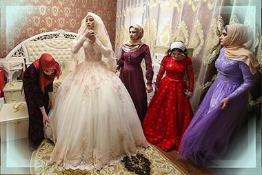 Чеченская невеста с подругами