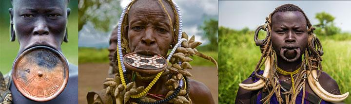 Невесты Сурмы с диском на губе
