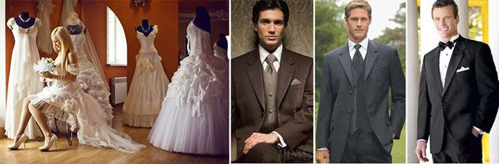 Выбор свадебных нарядов