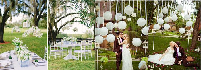 Украшения свадеб на природе