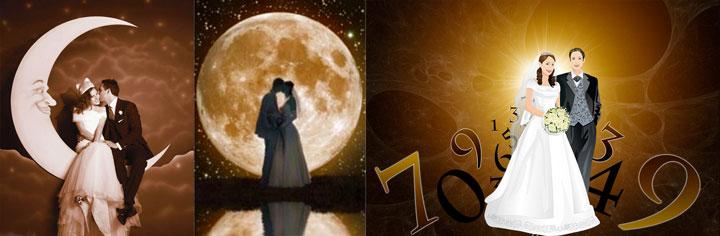 Нумерология, луна и молодожены