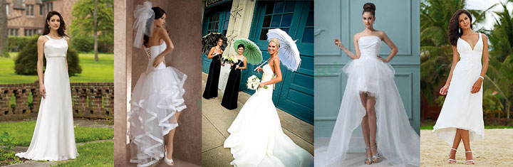 Платья невесты для лета