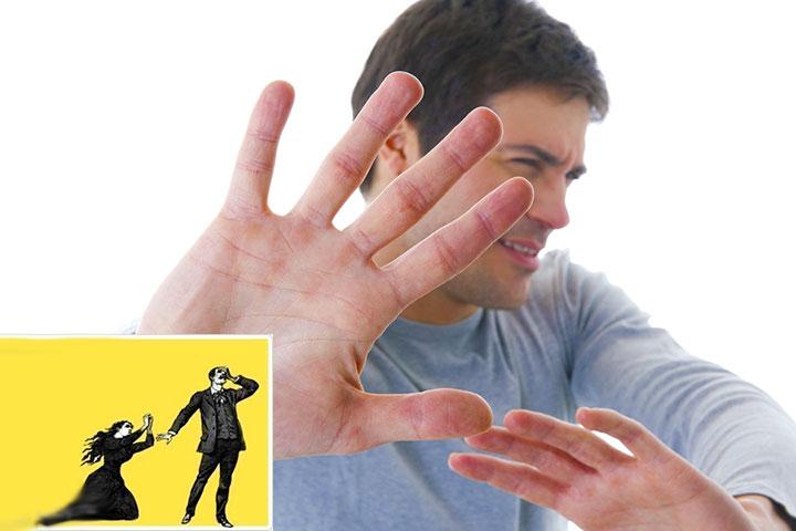 Мужчина игнорирует или бросает женщину