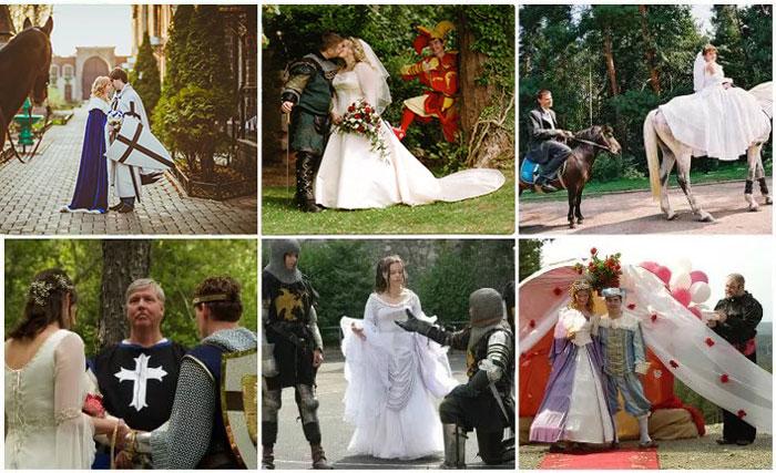 Жених и невеста в рыцарском стиле