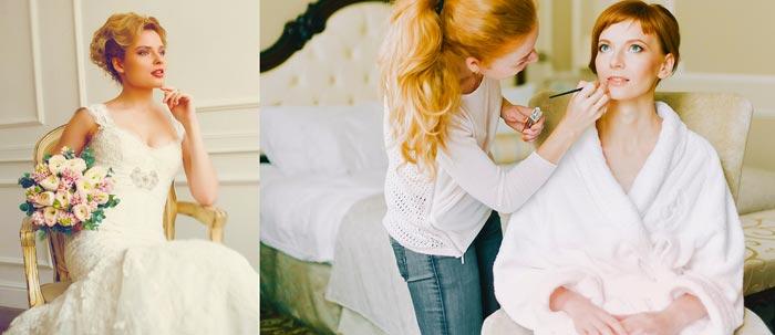 Невеста и визажист