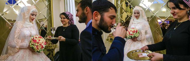 Чеченская невеста и стакан воды для обряда