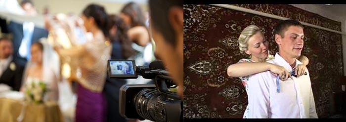 Видеосъемка свадьбы и одевание жениха