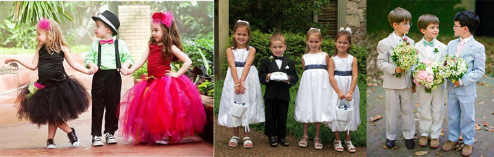 Детские наряды на свадьбу