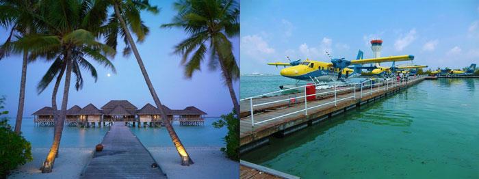 Отели и водные самолеты на Мальдивах