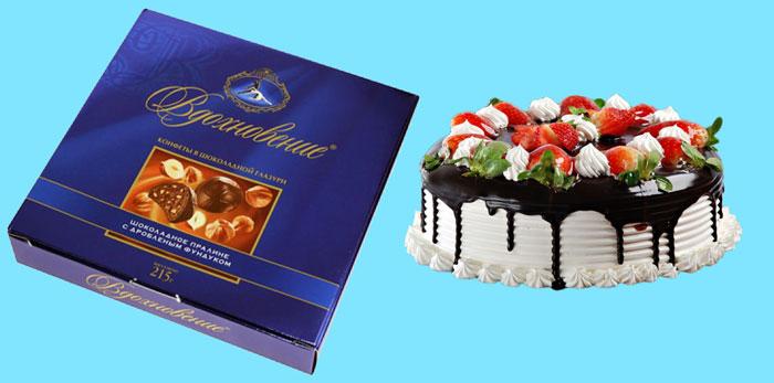 Конфеты и торт