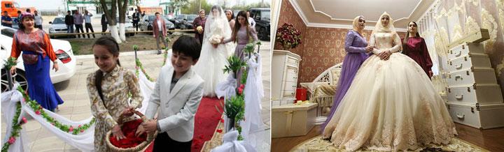 Подготовка к чеченской свадьбе
