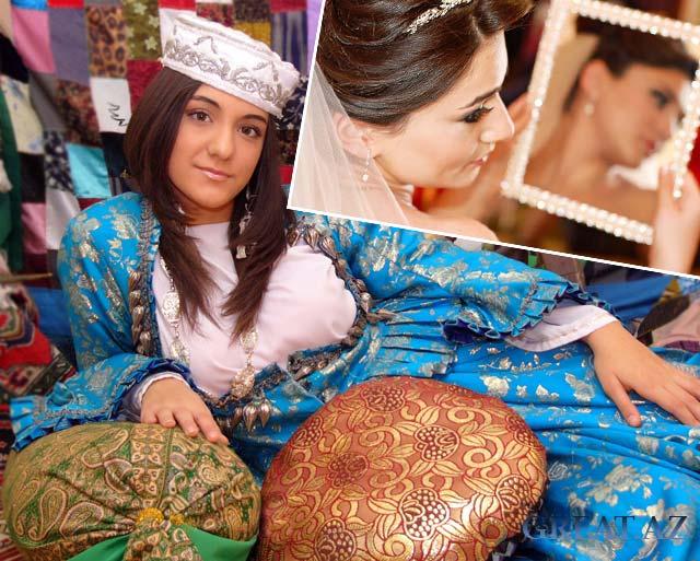 Невеста азербайджанка и невеста с зеркалом