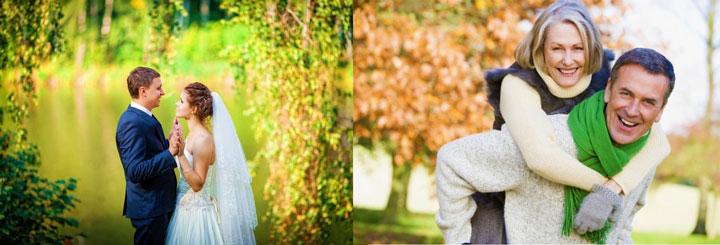 Свадьба в августе и счастливая пара