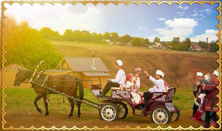 Свадебный обычай чувашской невесты - навестить родственников