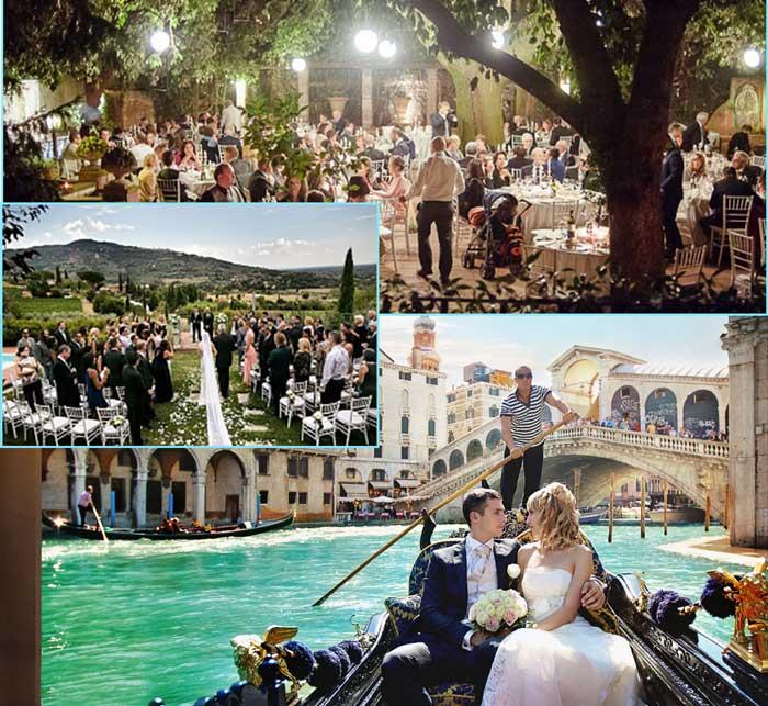 Сюжеты итальянской свадьбы