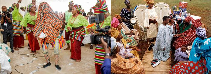 свадебные традиции Йоруба: танцы и приклонение родителям