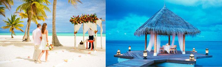 Варианты свадьбы на Мальдивах