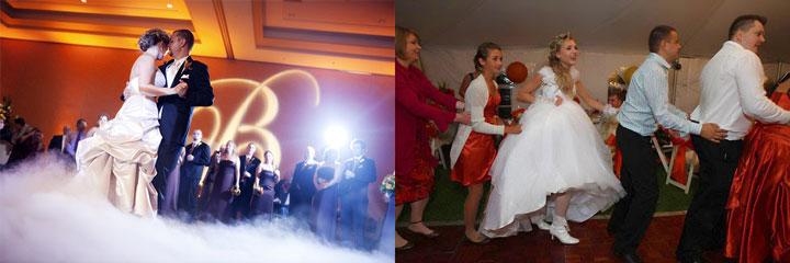 Первый танец молодых и танцы гостей на свадьбе