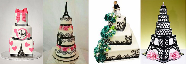 Торты для свадьбы в стиле Париж