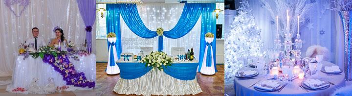Варианты декора зала зимней свадьбы