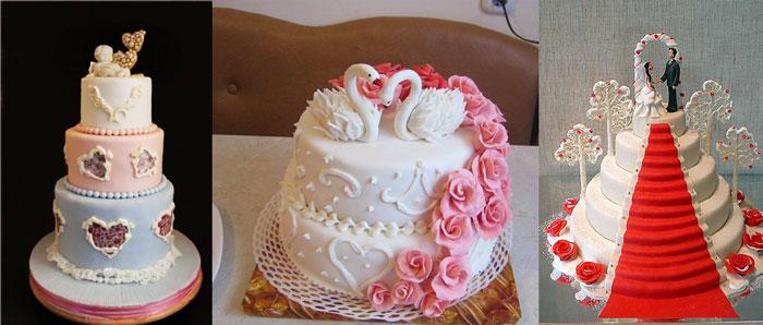 Свадебные торты с украшениями