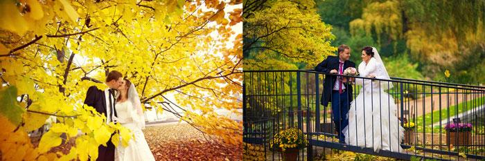 Молодожены осенью