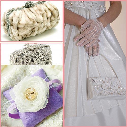 Клатч невесты и подушечка для колец