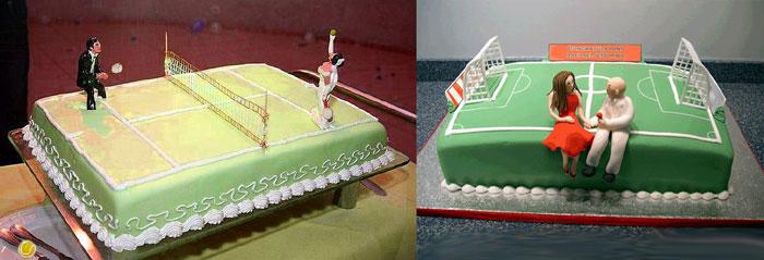 Свадебный торт в спортивном стиле
