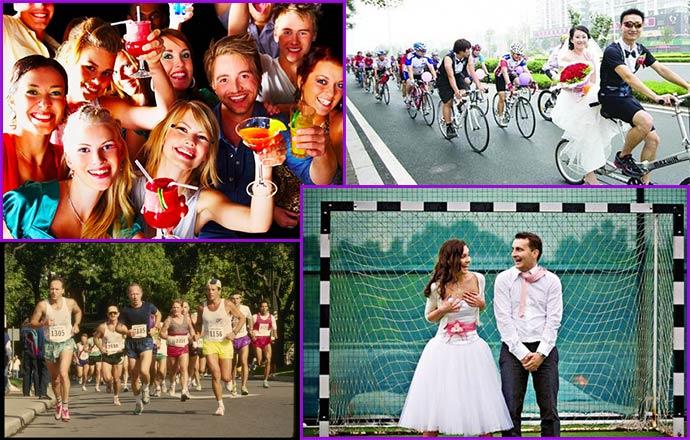 Сюжеты и конкурсы спортивной свадьбы